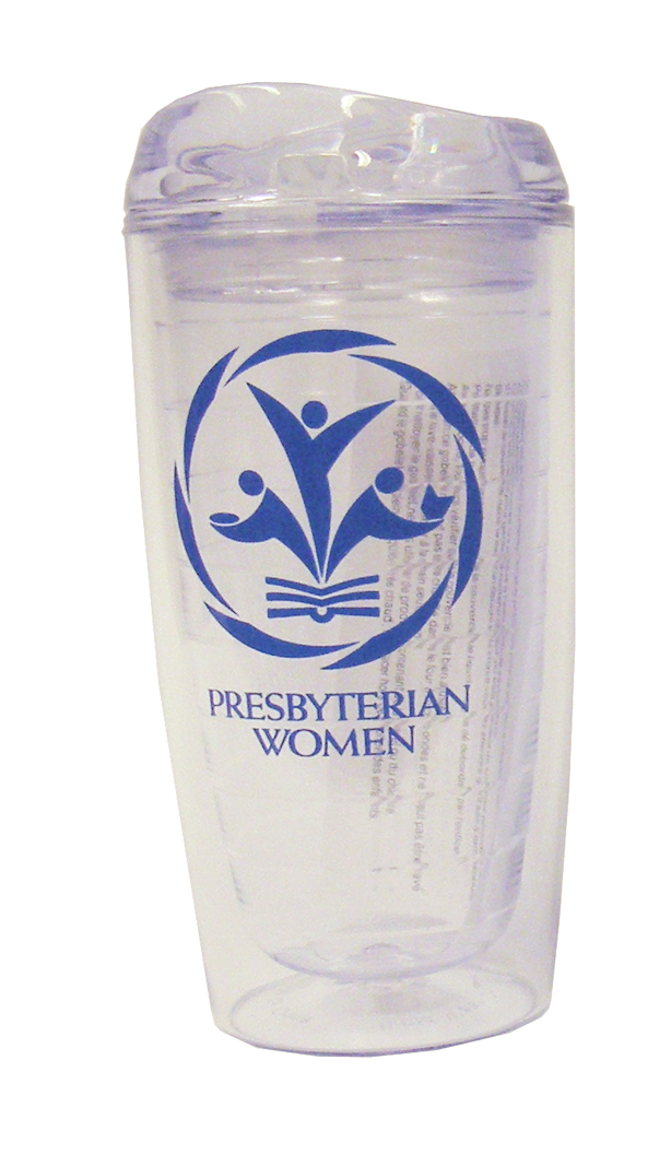 PW logo BPA-free tumbler, clear