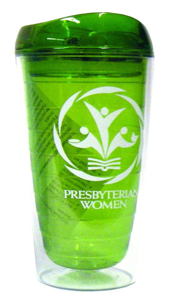 PW logo BPA-free tumbler, green