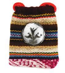 PW-logo pin pendant, sterling silver