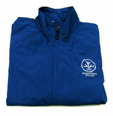 Full-zip wind jacket with PW logo
