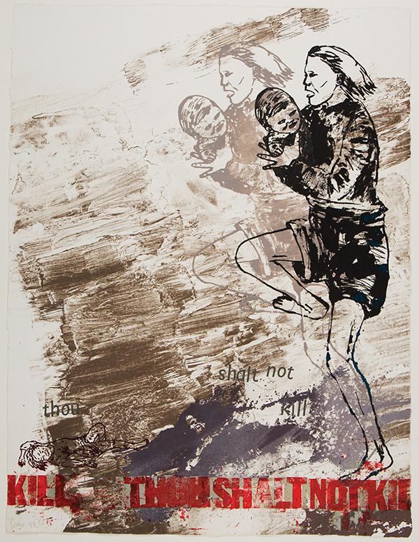 Thou Shalt Not Kill, by Nancy Spero