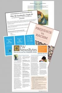 newsletter pages fanned out