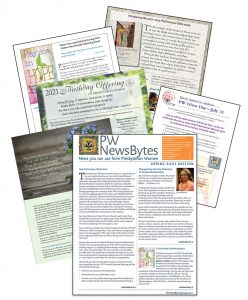 fanned pages of newsletter